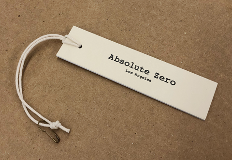 Absolute Zero hang tag